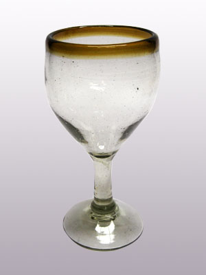 'Amber Rim' small wine glasses (set of 6)